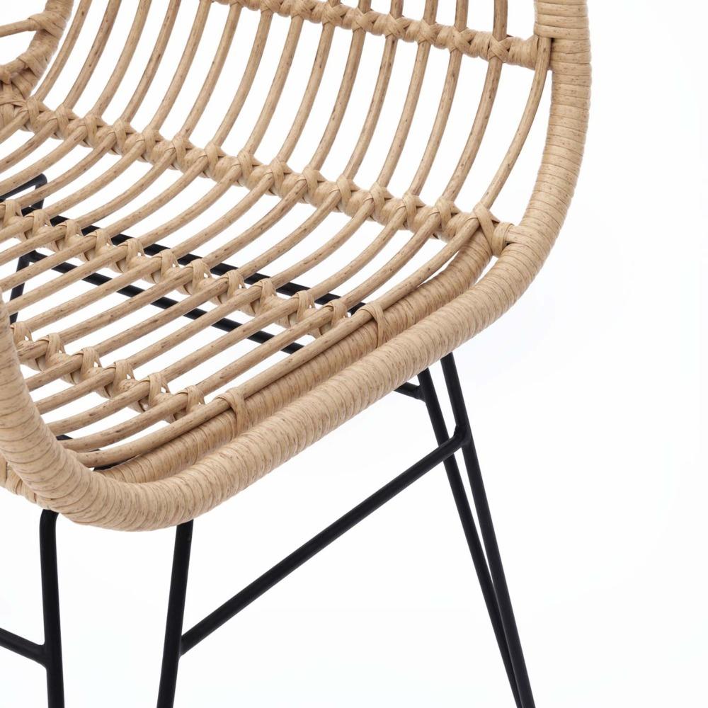 Havana Dining Chair Geflecht, Natur